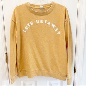 Roxy Let's Get Away Gold Pullover Sweatshirt